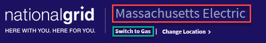 Example of Massachusetts Electric Selection with Switch to Gas Link