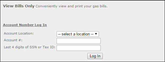 View Bills Only Section of ngrid.com/myaccount