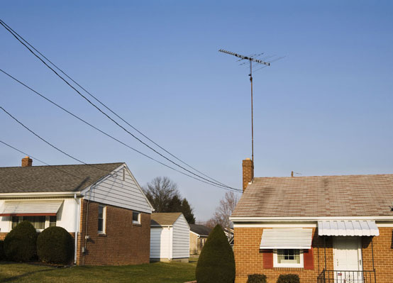 power lines connecting to a house