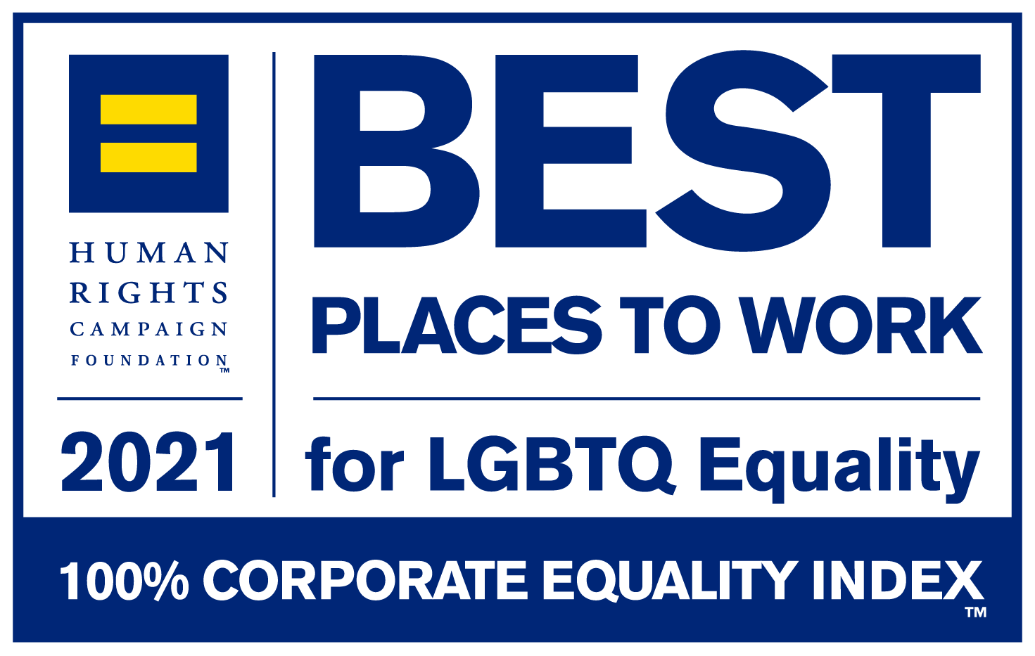 Logo - Best Places to Work  for LGBTQ Equality