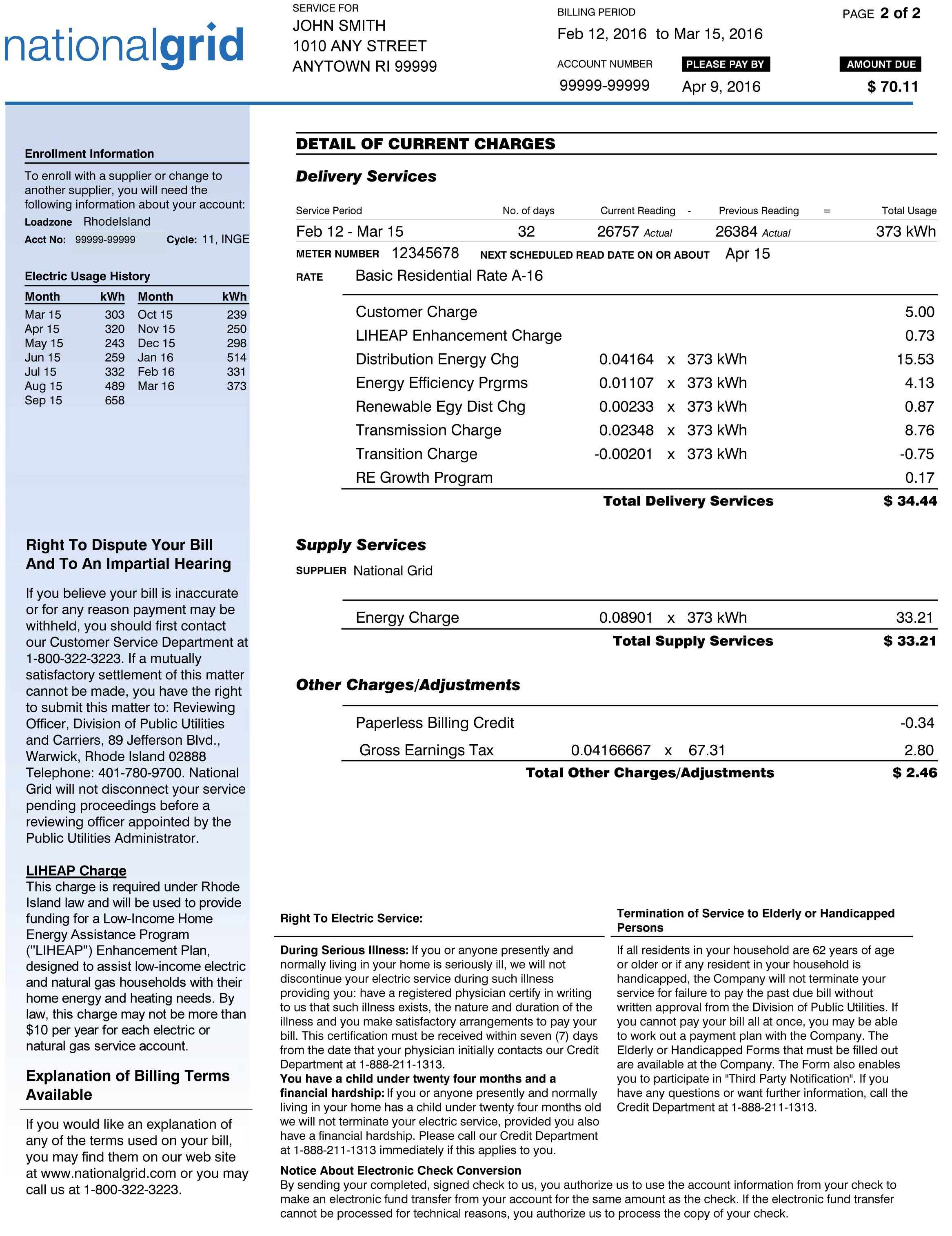 National Grid Natural Gas Bill Pay